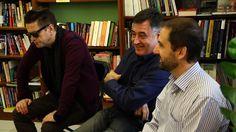 Santiago Auserón, Gervasio Sánchez y Joaquín Berges.