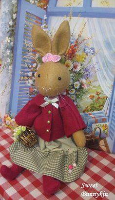 Handmade felt stuffed bunny    Makes a lovely gift