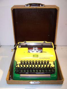 Customized 1955 Smith Corona John Deere Green Custom Painted Vintage Typewriter on eBay!