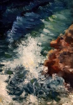 Canvas Board, Oil Painting On Canvas, Bob, Waves, Study, Paintings, Outdoor, Inspiration, Outdoors