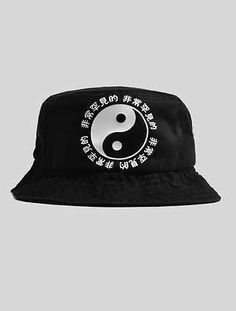 Very RARE Ying Yang Bucket Hat Black | eBay