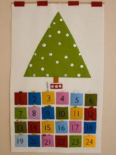 Calendario de Adviento fieltro navidad