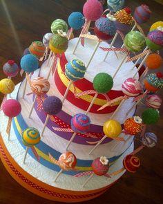 Colourful Cake pops - Cake by Creative Cakepops Bright Cakes, Colorful Cakes, Cake Pop Halter, Cakepops, Cake Pop Stands, Diy Cake Pop Stand, Cake Pop Displays, Velvet Cake, Cute Cakes