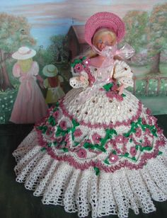 CROCHET FASHION DOLL PATTERN-#33 SABBATH MORNING #ICSORIGINALDESIGNS