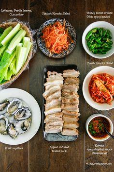 Apple Infused Korean Pork Wraps (Bossam)   MyKoreanKitchen.com