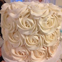 """""""Check out this rose cake!!!!!! Wow. Gorgeous!! @thecupcakeshopperaleigh @allsaints1875 #shoplocalweddings""""  www.shoplocalraleigh.org"""
