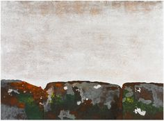 Keiji Shinohara: Zen, 2000. Monoprint with woodcut, mounted silver leaf, and hand-painting.