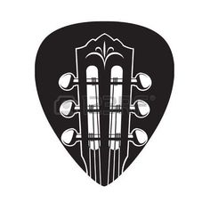 guitar logo: abstract image of guitar neck with black pick