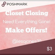 Closet Closing Soon! Need Everything Gone!! Closet Closing Soon to revamp for new improved items & Boutique Clothing! Need Everything Gone! Make Offers!💞 Tops Tees - Short Sleeve