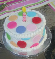 smash cake - this was the smash cake for the birthday cake i just posted.  she dove into it head first and ate it with no hands.  too cute.