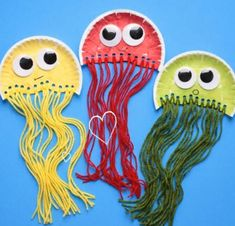 How to Make Paper Plate and Tissue Paper Jellyfish Craft | The Art 123