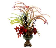 Now THIS is a dining table centerpiece!! New Orleans Marti Gras Style Home Decoration Silk Floral by Patiquefloral
