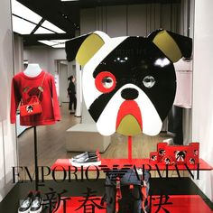 "EMPORIO ARMANI, London, UK, ""Happy Year of The Dog"", (Chinese New Year), photo by Sarah Bailey, pinned by Ton van der Veer"