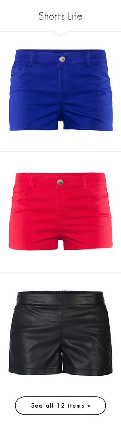 """""""Shorts Life"""" by aysebekar ❤ liked on Polyvore featuring shorts, bottoms, pants, blue, blue short shorts, h&m shorts, hot short shorts, pocket shorts, hot shorts and h&m"""