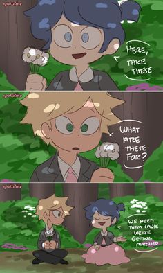 Adrien and Marinette get married plus Ladybug and Chat Noir finally meet! This is the first part of the Childhood Friends AU no one asked for LOL. Meraculous Ladybug, Ladybug Comics, Miraculous Ladybug Memes, Marinette And Adrien, Cute Baby Cats, Star Butterfly, Childhood Friends, Star Vs The Forces, Disney Frozen