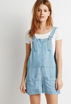 Life In Progress Chambray D-Ring Overalls | Forever 21 | #f21denim