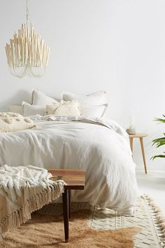 Loving this anthro bedding! | Relaxed Cotton-Linen Duvet Cover