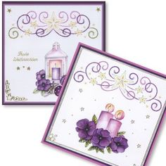 - - Anns Paper Art - The Art of Stitching Embroidery Cards, Card Patterns, Greeting Cards Handmade, Paper Art, Christmas Cards, Stitch, Frame, Craft Cards, Cards