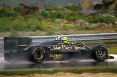 Ayrton Senna, Lotus-Renault 97T, 1985 Portuguese GP, Estoril