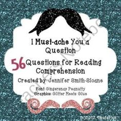 Must-ache You a Question Reading Comprehension Task Cards product from 4mulaFun on TeachersNotebook.com