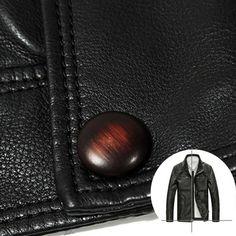 AFS JEEP Mens PU Leather Motorcycle Jacket Fashion Casual Stand Collar Multi-pocket Coat at Banggood