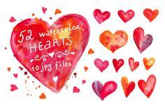 Check out Watercolor hearts set #3 by natsa on Creative Market