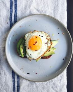 Breakfast vibez. Avocado crispy bread lots of olive oil and an by thebrokenbread