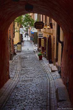 Gåsgränd, Gamla stan, Stockholm.                     Photo was taken on September 15, 2011 in Old Town, Stockholm, Stockholm.