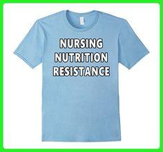 Mens Nursing Nutrition Resistance Tee - Blue Nurse Voter Shirt Small Baby Blue - Careers professions shirts (*Amazon Partner-Link)