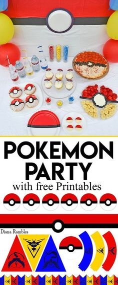 How to Throw a Pokémon Party - Throw a Pokémon GO party with these fun food ideas and free party decoration and party printables to download. It's perfect for a Pokemon birthday party!