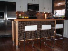 ikea kitchen island | ooooooooh, I could put tile on my kitchen island to jazz it up