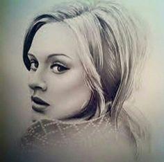 #Beauty is this #Adele portrait! #Art