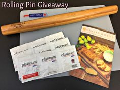 French Rolling Pin Giveaway -- ends French Rolling Pin, Breakfast Items, Dinner Rolls, Pizza Recipes, Bread Baking, Giveaways, Breads, Sweet Treats, Food And Drink