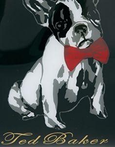 Ted Baker French Bulldog Print