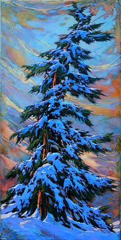 Paintings - David Langevin Artworks Inc. Abstract Landscape, Landscape Paintings, Abstract Art, Landscapes, Art Abstrait, Winter Scenes, Tree Art, Painting & Drawing, Gouache Painting
