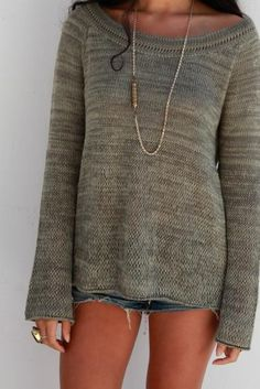Goddis Bailey Knit Pullover Sweater in Moss
