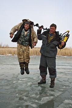 Ice fishing good old boys