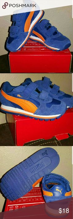 "Toddlers ""Puma"" shoes Brand new shoes for toddlers vibrant orange and blue Puma Shoes Baby & Walker"