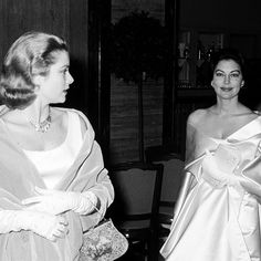 Ava Gardner and Grace Kelly