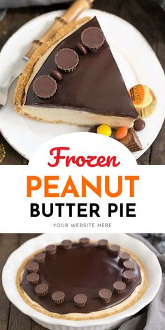Frozen Chocolate Peanut Butter Pie - Graham cracker crust, dreamy peanut butter filling topped with chocolate ganache #peanutbutterdessert #peanutbutterpie #reesesdessert #frozenpie #thatskinnychickcanbake Peanut Butter Filling, Peanut Butter Desserts, Butter Pie, Chocolate Peanut Butter, Dairy Free Treats, Paleo Treats, Frozen Chocolate, Chocolate Ganache, Yummy Recipes