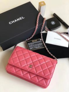 f093bbf09508 Chanel Quilting Pearl Caviar Calfskin WOC Wallet on Chain Bag Rosy 2018  Chanel Bag Sale,