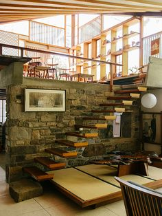 interior of Nakashima Estate in New Hope, Pennsylvania / photo by Brian Ferry