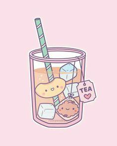 Cute Food Drawings, Cute Kawaii Drawings, Arte Do Kawaii, Kawaii Art, Stickers Kawaii, Cute Stickers, Kawaii Doodles, Cute Doodles, Japon Illustration