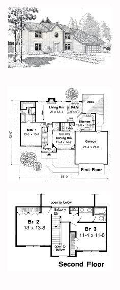 Colonial Saltbox House Plan 10829   House plans, Saltbox houses ...