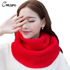 >> Click to Buy << CWLSP Winter Knitted Sweater Scarves New Fashion Unises Lovers Wool Collar Neck Crochet Ring Loop Scarf QZ1827 #Affiliate