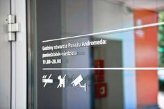 System informacji wizualnej w Pasażu Andromeda - STGU - Stowarzyszenie Twórców Grafiki Użytkowej