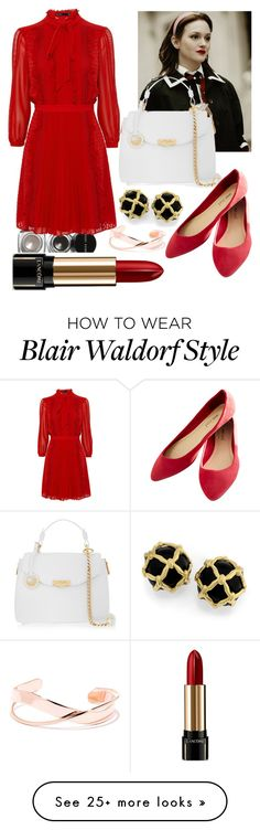 """""""Blair Waldorf"""" by leyli16 on Polyvore featuring Bobbi Brown Cosmetics, Versace, Wet Seal and Lancôme"""