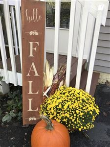 Hello Fall Sign Stencil by Designer Stencils Halloween Stencils, Sign Stencils, Welcome Fall, Fall Halloween, Halloween Crafts, Outdoor Signs, Fall Signs, Porch Signs, Hello Autumn