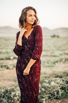 Knot sisters floral maxi dress