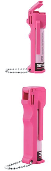 The Reliable And Powerful Mace Hot Pink Pepper Spray  As you know, the Mace pepper spray brand has been around for decades. This pink model was made specifically for women and a portion of the proceeds goes to these charitable organizations: The National Center for Victims of Crime, Project Against Violent, Encounters Casting for Recovery.